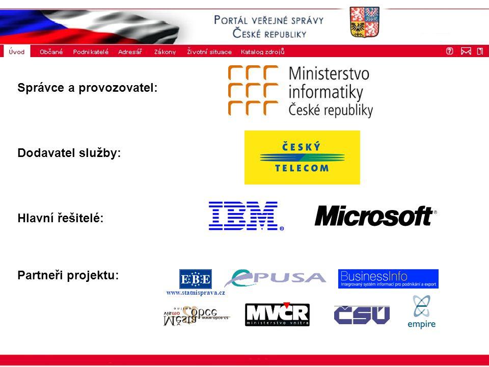 ISSS 2003 www.statnisprava.cz Správce a provozovatel: Dodavatel služby: Hlavní řešitelé: Partneři projektu: