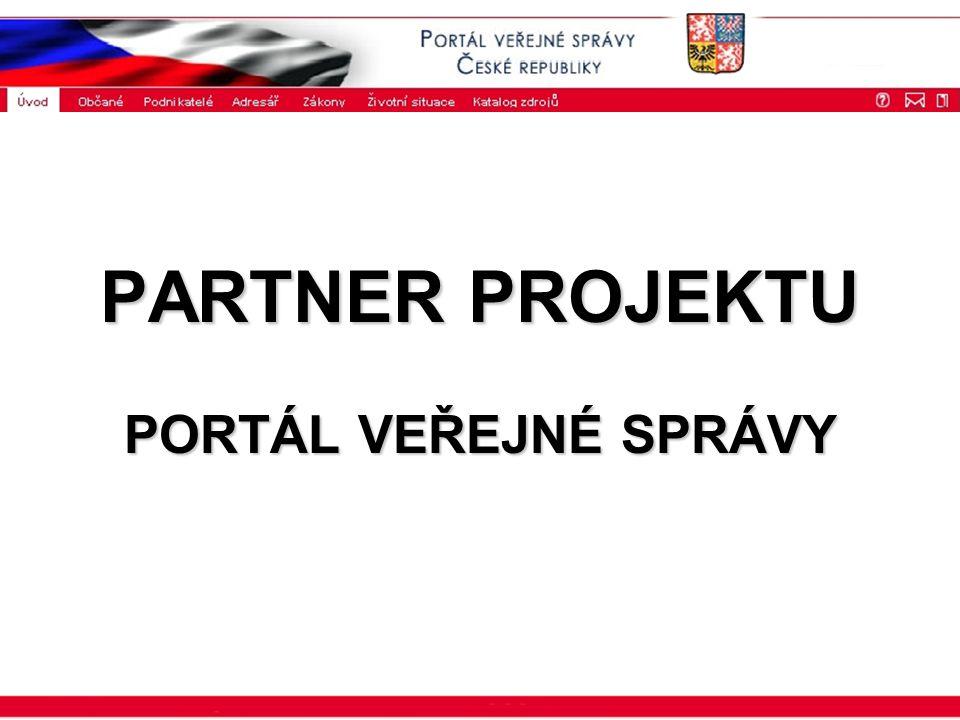 ISSS 2003 PARTNER PROJEKTU PORTÁL VEŘEJNÉ SPRÁVY