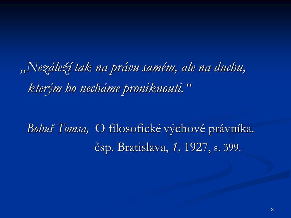 214  Kadeřávek, Zákon přirozený základem zákonodárství lidského.