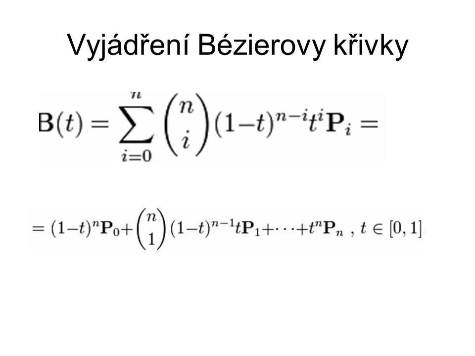 Vyjádření Bézierovy křivky