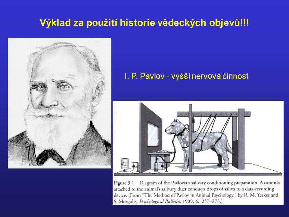 Výklad za použití historie vědeckých objevů!!! I. P. Pavlov - vyšší nervová činnost