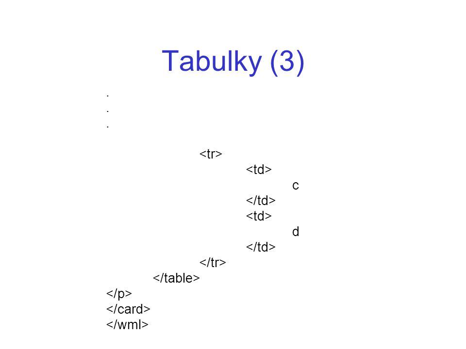 Tabulky (3). c d