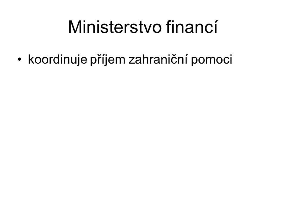 Ministerstvo financí koordinuje příjem zahraniční pomoci