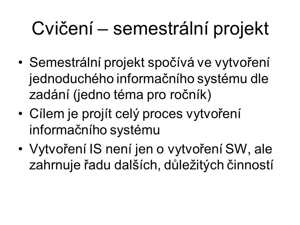 Vytvoření IS není jen vytváření SW Součástí jsou také další činnosti jako: –Účast ve výběrovém řízení včetně splnění všech formálních náležitostí –Vytvoření nabídky do výběrového řízení –Smlouva o dílo na dodávku IS –Analýza požadavků –Projektový management (harmonogram prací, stavební deník, výkazy práce) –Předání projektu investorovi (předávací protokol)