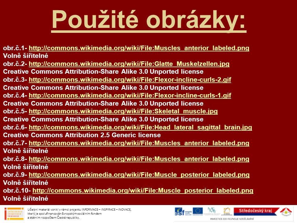 Použité obrázky: obr.č.1- http://commons.wikimedia.org/wiki/File:Muscles_anterior_labeled.pnghttp://commons.wikimedia.org/wiki/File:Muscles_anterior_l