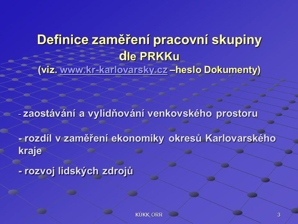 3KÚKK, ORR Definice zaměření pracovní skupiny d le PRKKu (viz. www.kr-karlovarsky.cz –heslo Dokumenty) www.kr-karlovarsky.cz - zaostávání a vylidňován