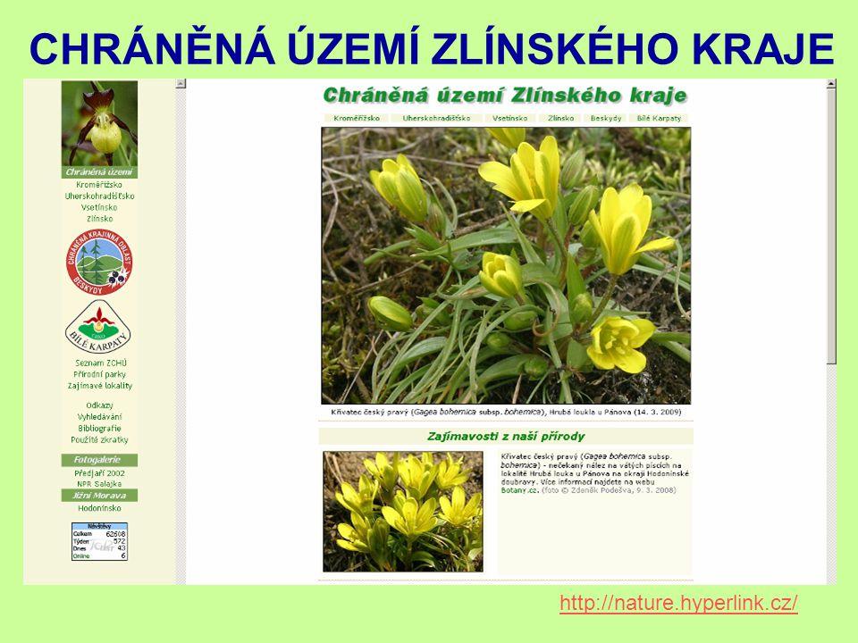 http://nature.hyperlink.cz/ CHRÁNĚNÁ ÚZEMÍ ZLÍNSKÉHO KRAJE
