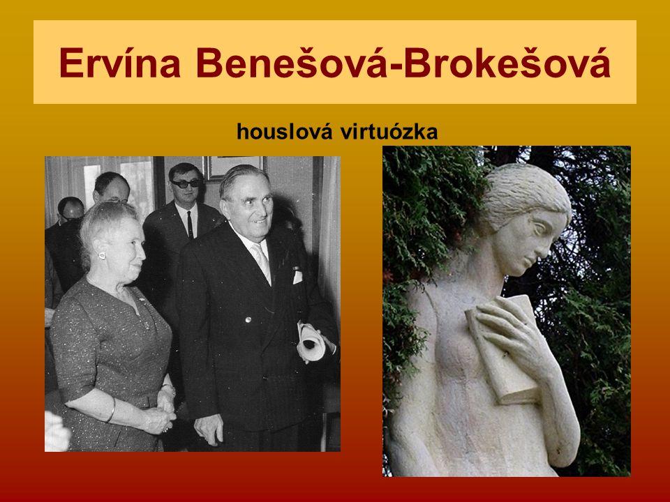 Ervína Benešová-Brokešová houslová virtuózka