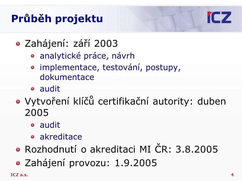 5ICZ a.s.Technické řešení Informační systém pro certifikační služby tvořen sw.