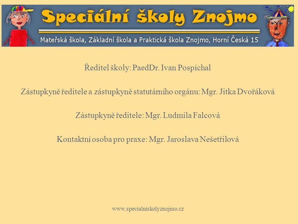 Základní informace Mateřská škola, Základní škola a Praktická škola, Znojmo, Horní Česká 15 je úplná škola, která zahrnuje všechny součásti vzdělávání žáků se speciálně vzdělávacími potřebami.