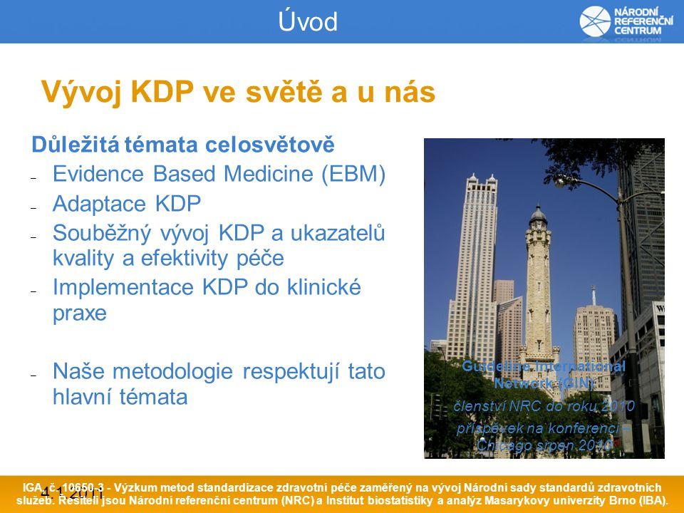 4.1.2011 Životní cyklus vývoje KDP IPV SIGN = 29 měsíců NRC = 16 - 24 měsíců IGA, č.