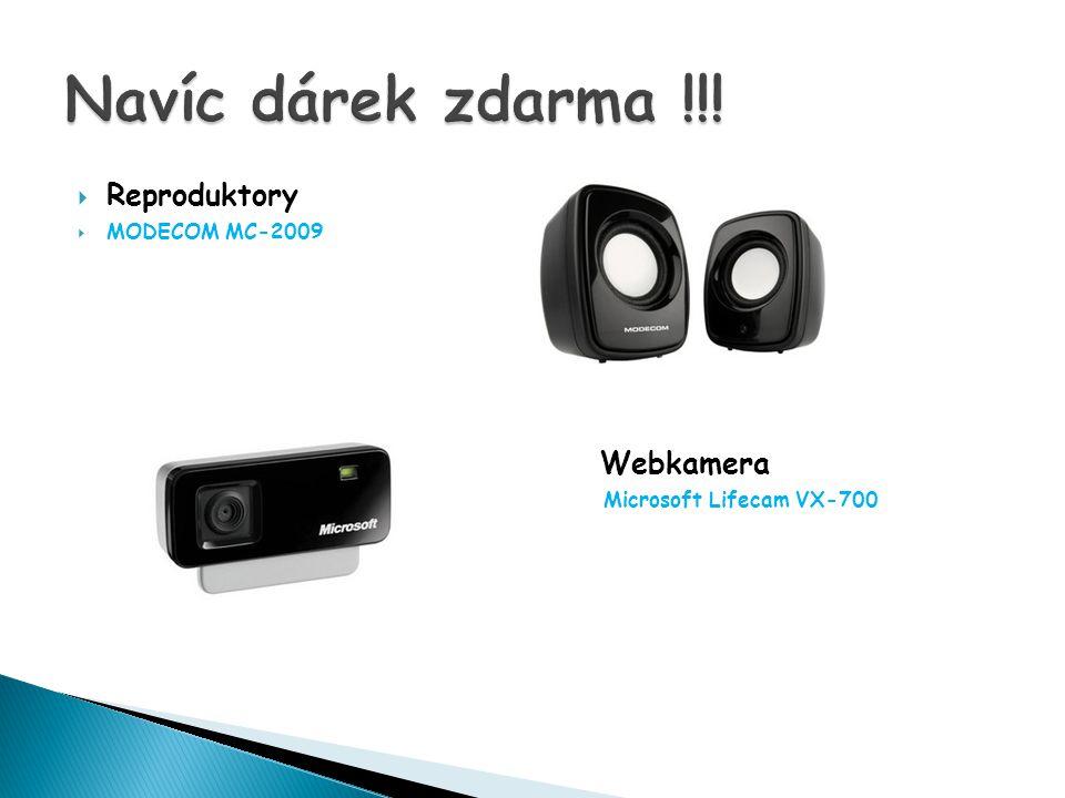  Reproduktory  MODECOM MC-2009 Webkamera Microsoft Lifecam VX-700