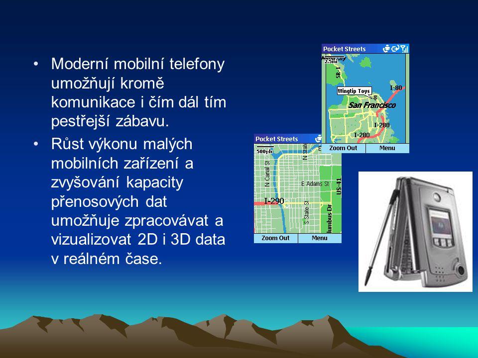 Moderní mobilní telefony umožňují kromě komunikace i čím dál tím pestřejší zábavu. Růst výkonu malých mobilních zařízení a zvyšování kapacity přenosov