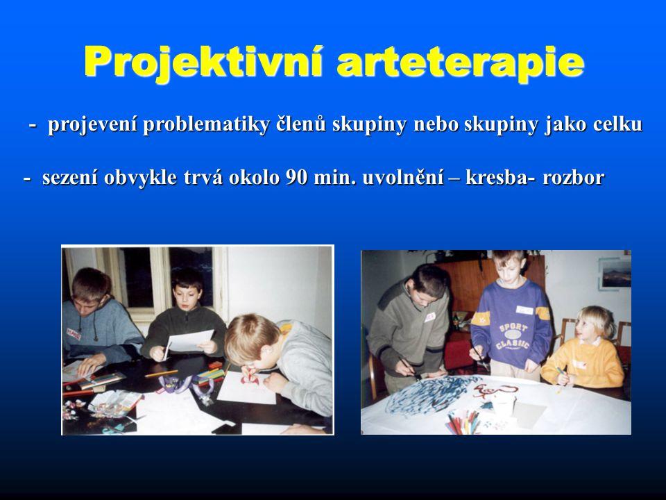 Projektivní arteterapie - projevení problematiky členů skupiny nebo skupiny jako celku - projevení problematiky členů skupiny nebo skupiny jako celku