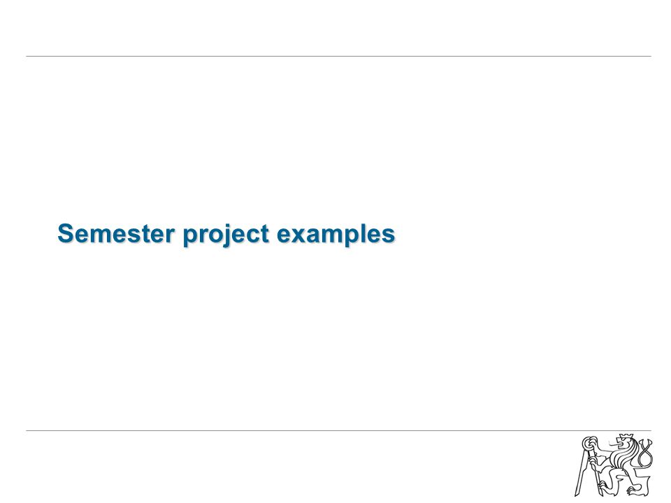 Semester project examples