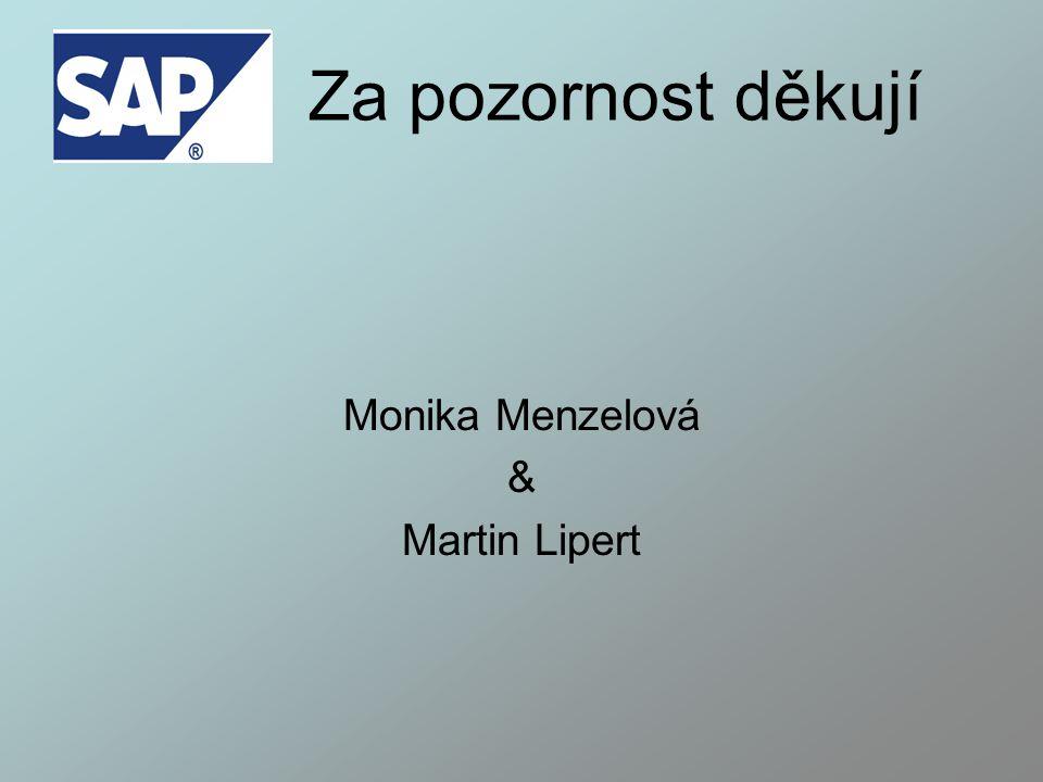 Za pozornost děkují Monika Menzelová & Martin Lipert