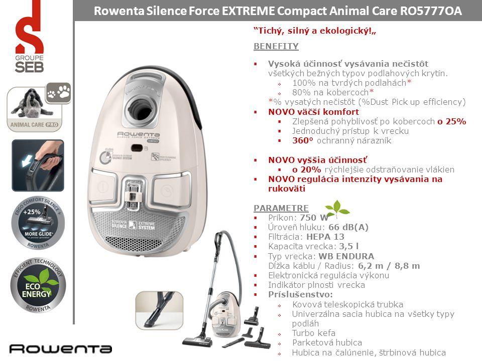 """Rowenta Silence Force EXTREME Compact Animal Care RO5777OA Halk, erős és ökológiai !"""" TERMÉKELŐNYÖK  Kiemelkedő hatékonysággal tisztít bármilyen felületi szennyeződést."""