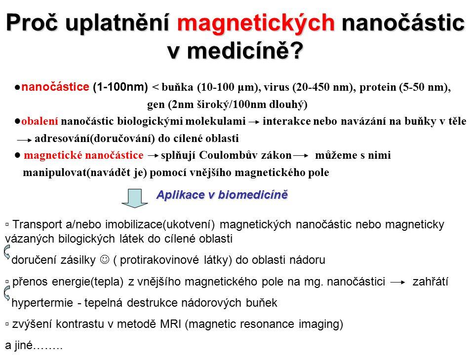 Magnetismus nanomateriálu makrosvět mikrosvět nanosvět 1.