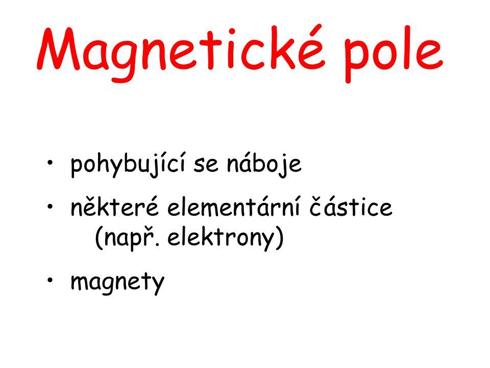 Magnetické pole pohybující se náboje některé elementární částice (např. elektrony) magnety