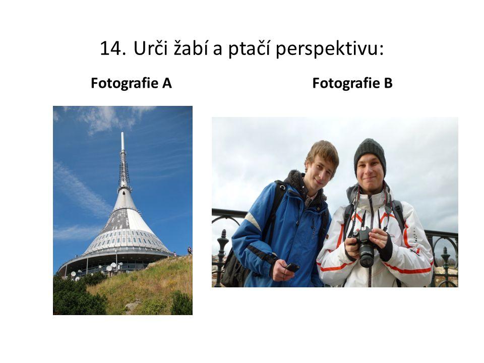 14. Urči žabí a ptačí perspektivu: Fotografie A Fotografie B