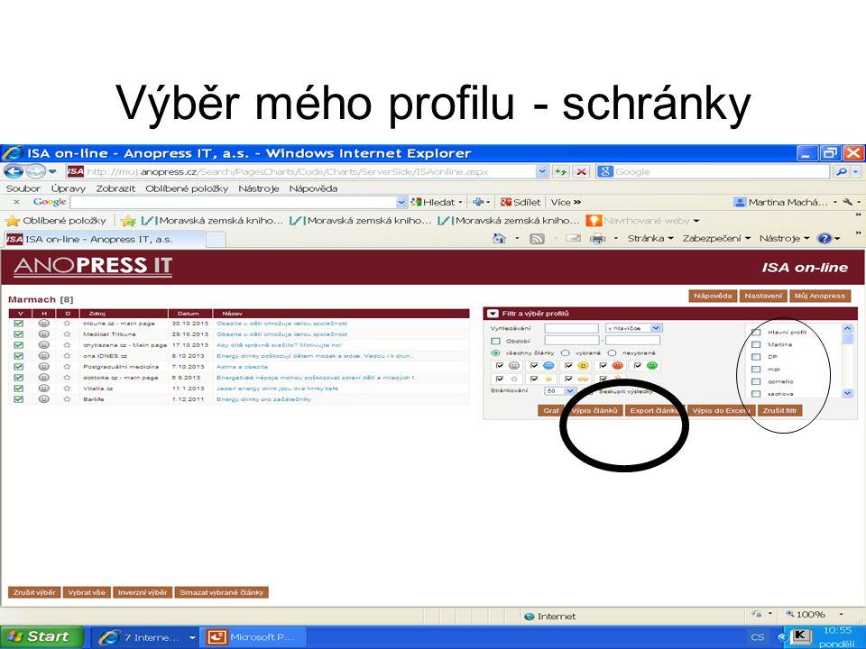Export článků 1 Nezapomeňte zatrhnout a napsat svůj e-mail, pokud si přejete odeslat články.