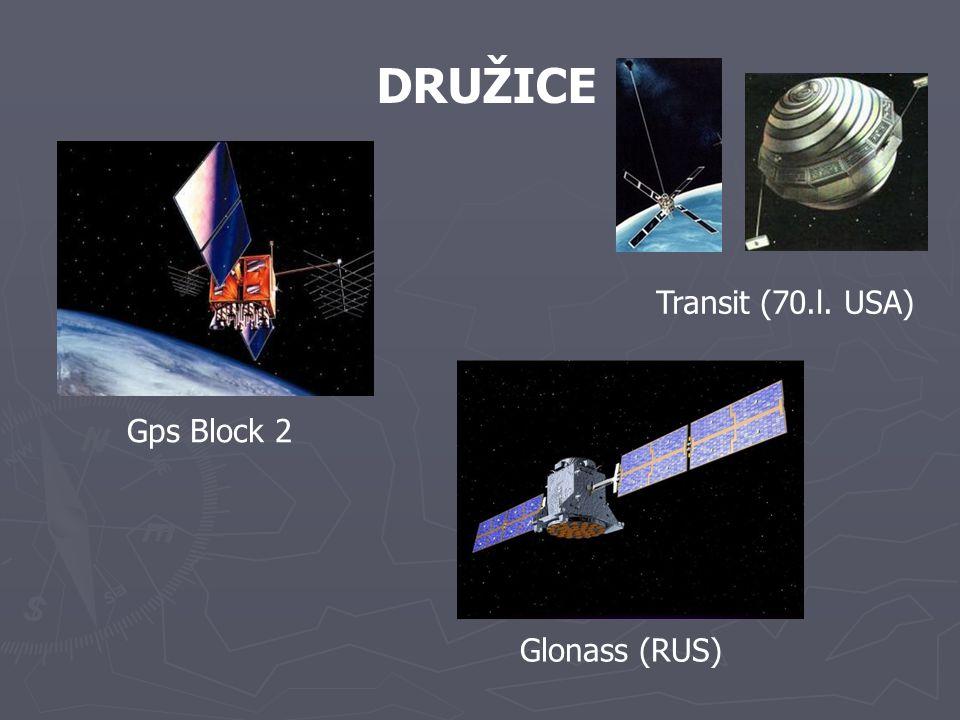DRUŽICE Gps Block 2 Transit (70.l. USA) Glonass (RUS)