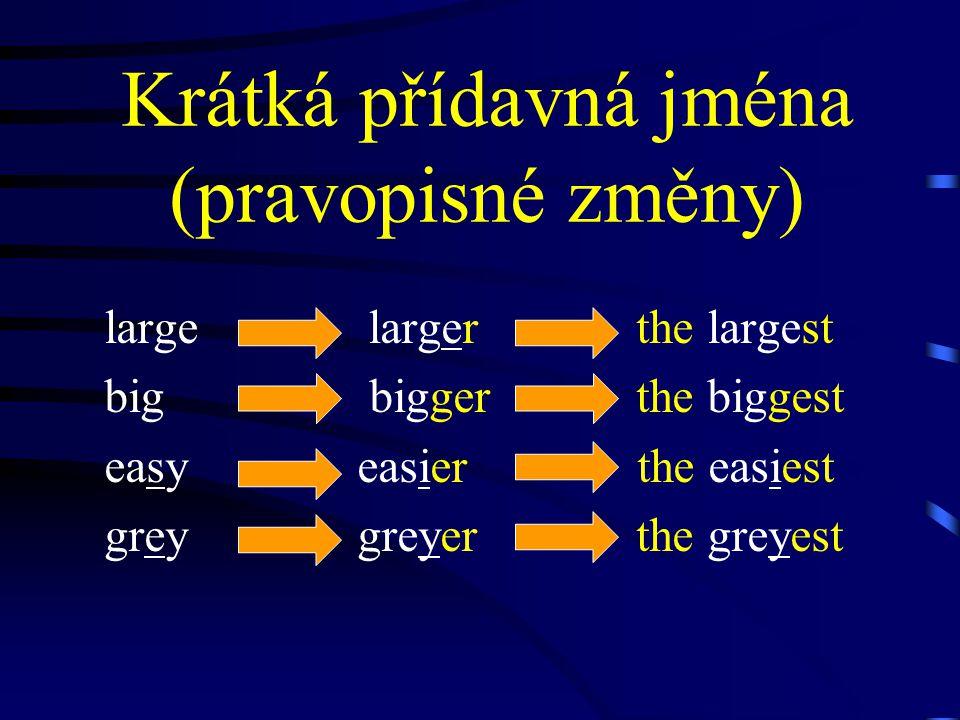 Víceslabičná přídavná jména interesting ↓ more interesting ↓ the most interesting