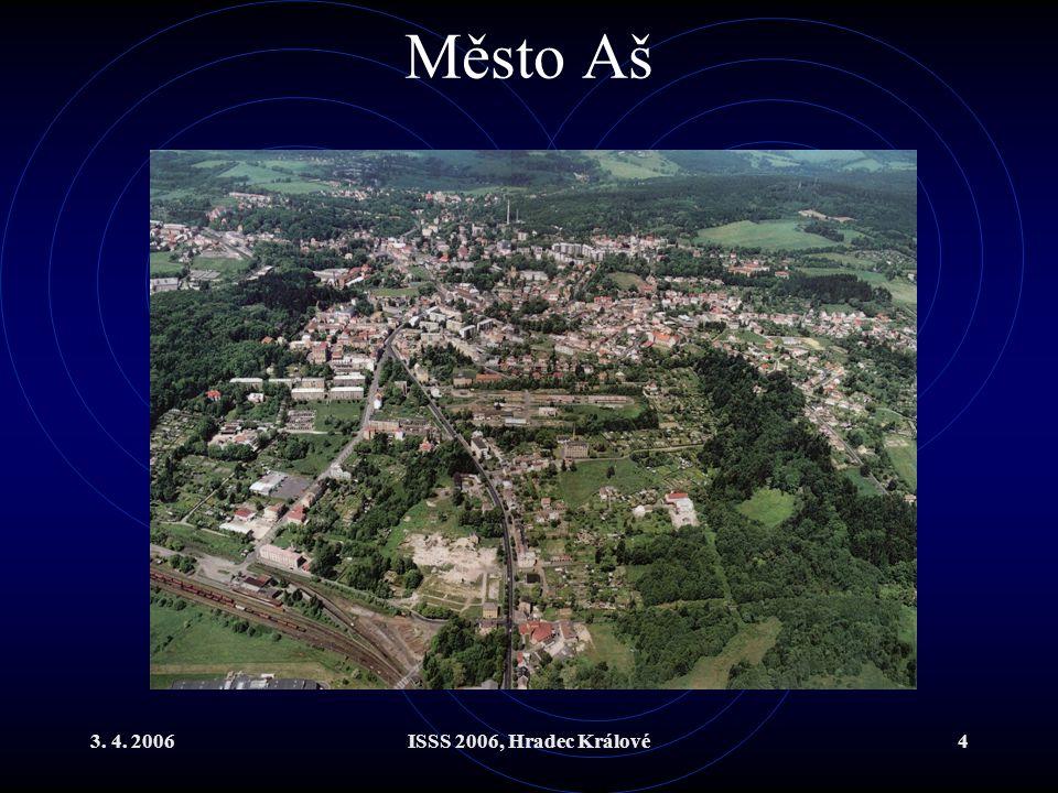 3. 4. 2006ISSS 2006, Hradec Králové4 Město Aš