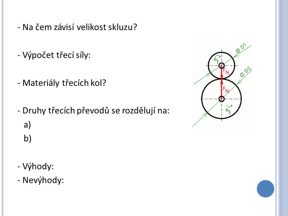 Řetězové převody - Popis - Použití
