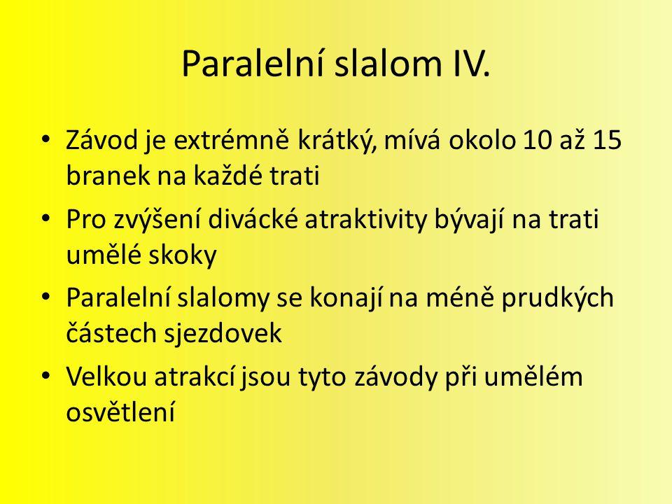 Paralelní slalom IV.