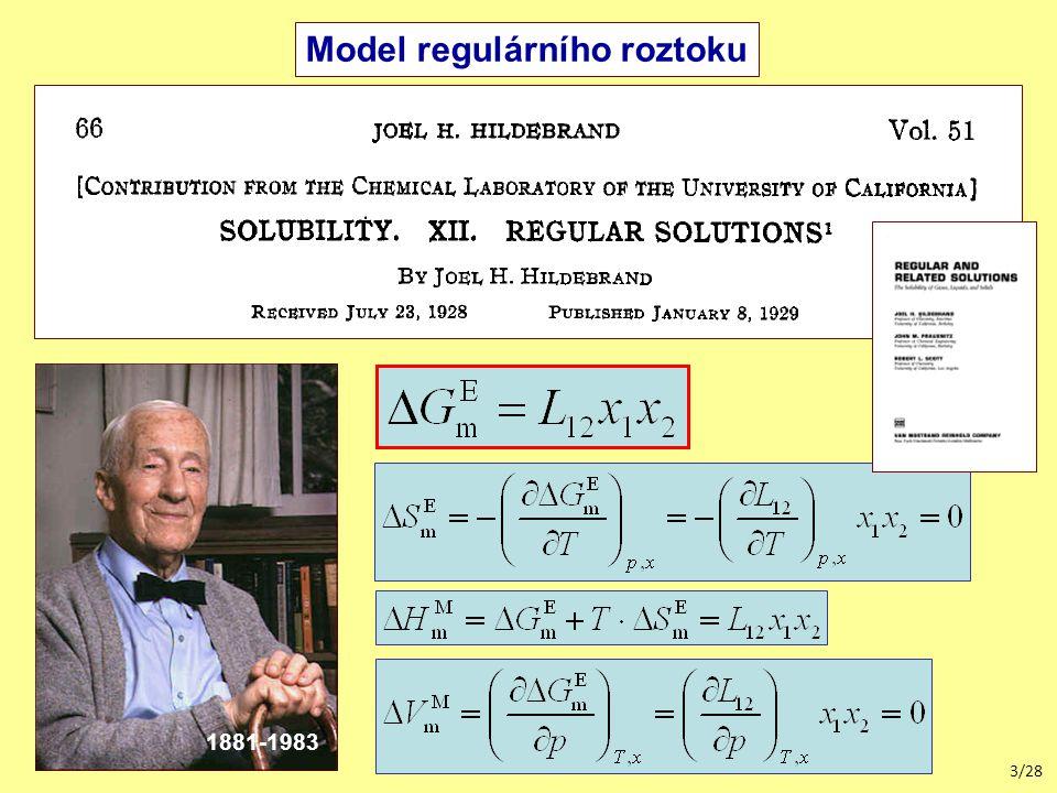 3/28 Model regulárního roztoku 1881-1983