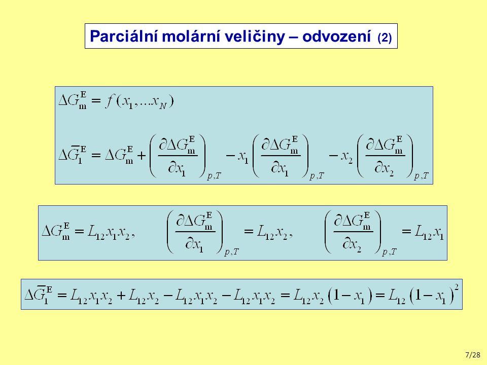 18/28 Integrální veličiny Redlichova-Kisterova rovnice