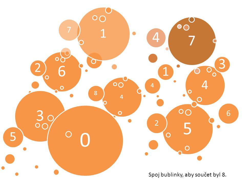 6 2 4 1 3 1 7 4 84 3 5 0 5 26 7 4 Spoj bublinky, aby součet byl 8.