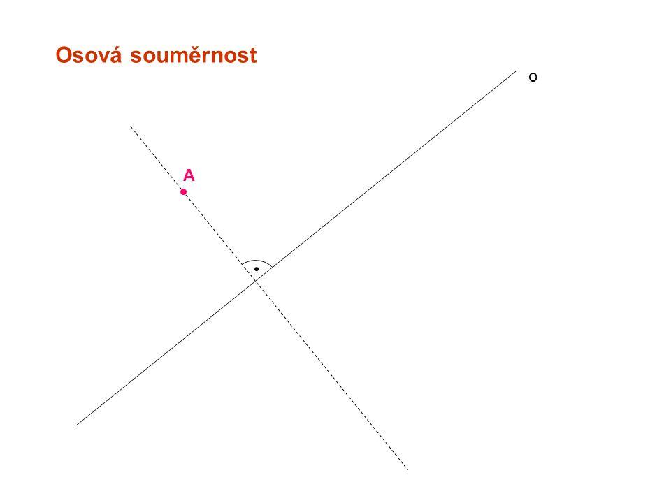 Středová souměrnost A B´ B A´ S=S´ Středová souměrnost se středem S je shodné zobrazení, které: 1.každému bodu X kromě středu S přiřadí bod X´ tak, že střed úsečky XX´ je bod S.