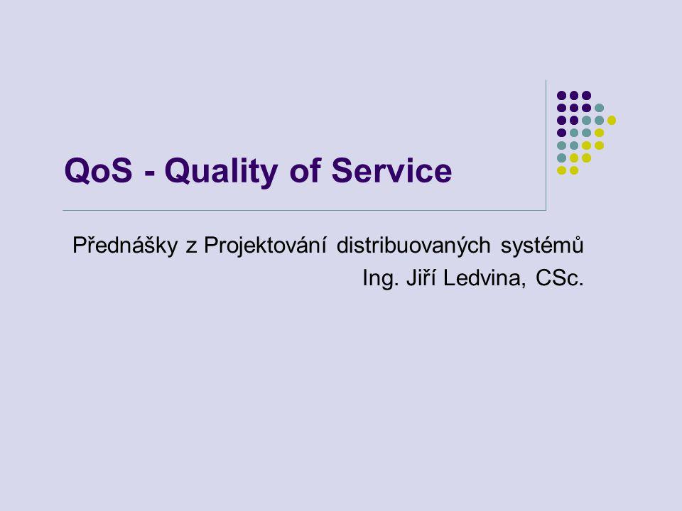 QoS - Quality of Service Přednášky z Projektování distribuovaných systémů Ing. Jiří Ledvina, CSc.