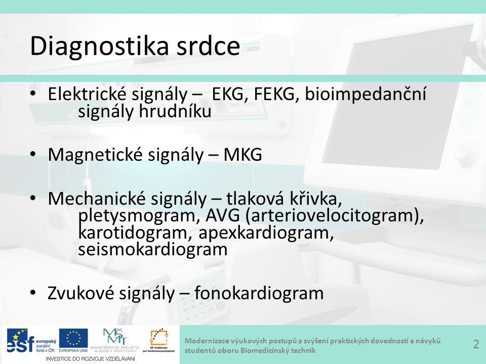 Modernizace výukových postupů a zvýšení praktických dovedností a návyků studentů oboru Biomedicínský technik Jícnové EKG 13