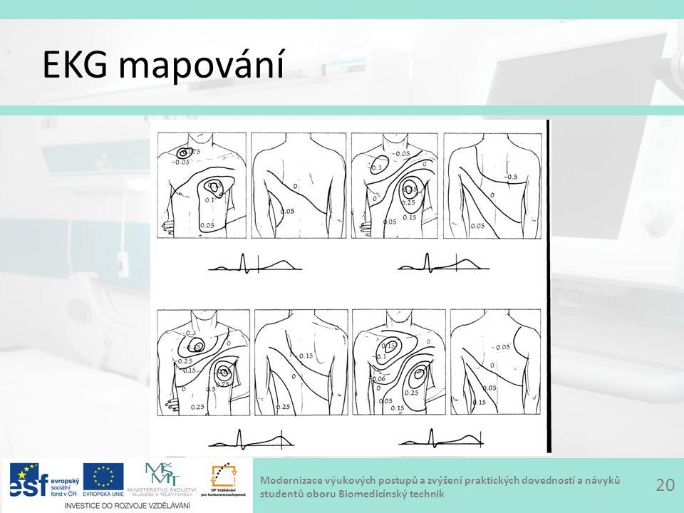 Modernizace výukových postupů a zvýšení praktických dovedností a návyků studentů oboru Biomedicínský technik EKG mapování 20