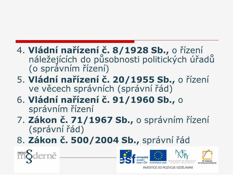 4. Vládní nařízení č.