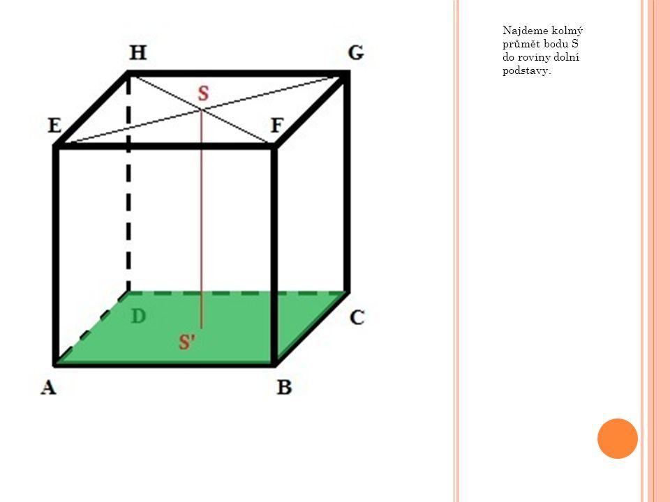 Ú KOL ZÁVĚREM 1) V kvádru ABCDEFGH s rozměry  AB = 5 cm,  BC = 12 cm a  AE = 9 cm urči vzdálenost bodu F od roviny BEG.