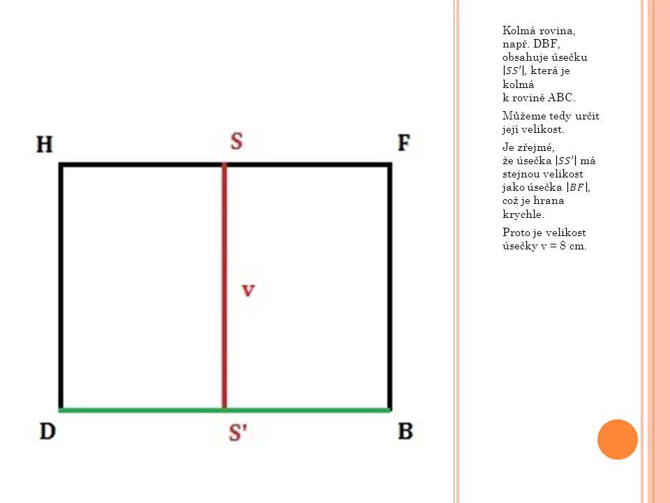 V krychli ABCDEFGH o hraně 6 cm určete vzdálenost bodu F od roviny BEG.