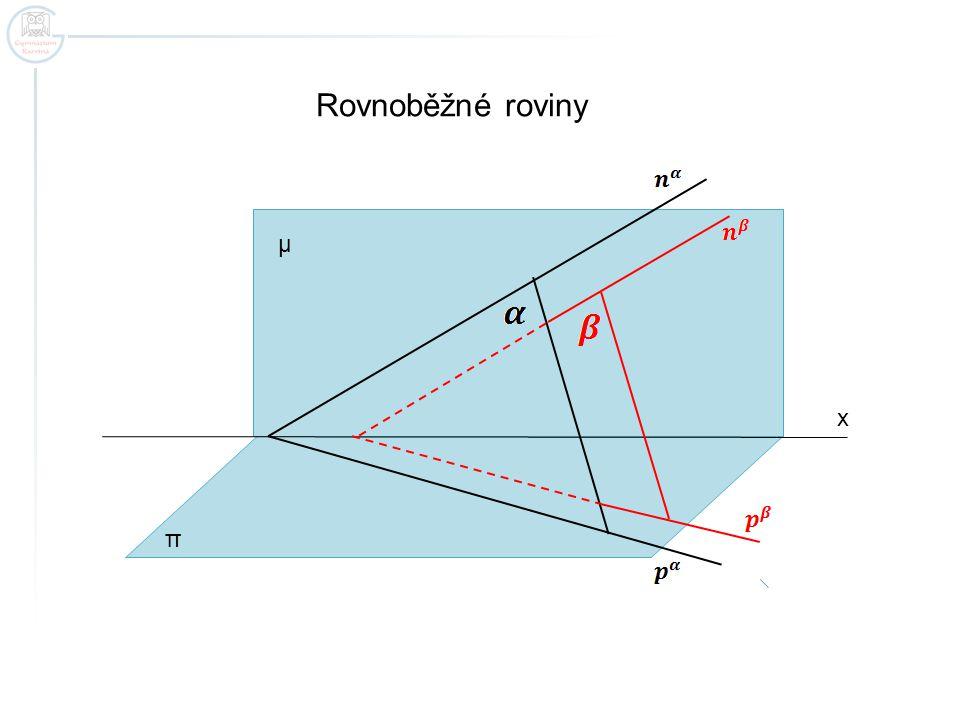 Zapamatujte.Jsou-li dvě roviny rovnoběžné, mají rovnoběžné stopy.