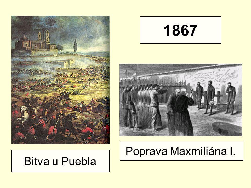 Bitva u Puebla Poprava Maxmiliána I. 1867