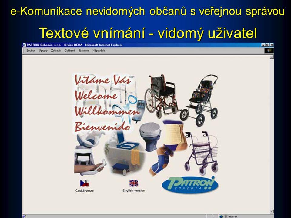 Lineární vnímání - nevidomý uživatel e-Komunikace nevidomých občanů s veřejnou správou