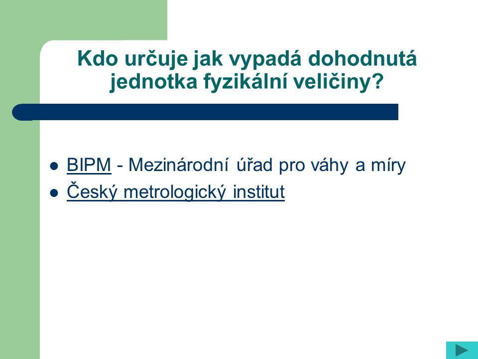 BIPM - Mezinárodní úřad pro váhy a míry BIPM Český metrologický institut