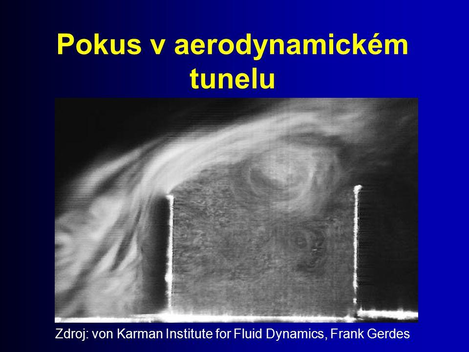 Pokus v aerodynamickém tunelu Zdroj: von Karman Institute for Fluid Dynamics, Frank Gerdes