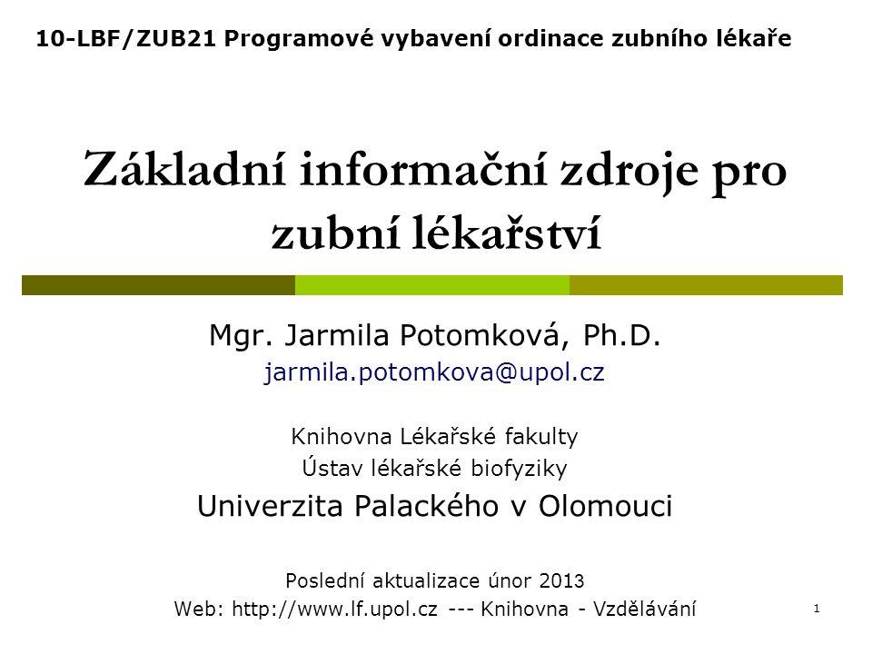 MEDLINE/PubMed Pokročilé vyhledávání /Advanced 12 http://pubmed.gov