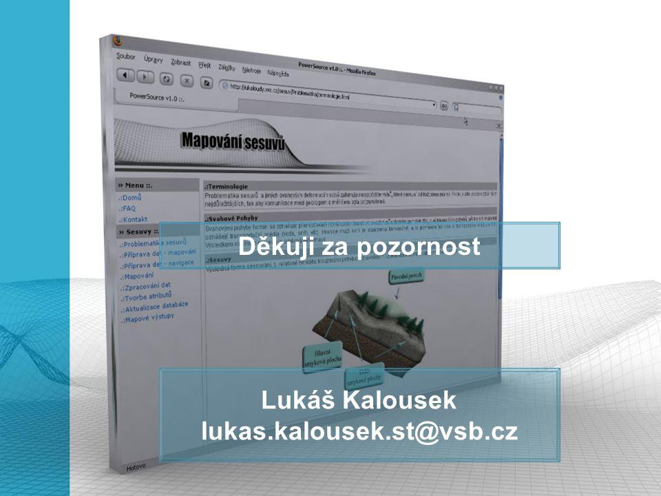 Lukáš Kalousek lukas.kalousek.st@vsb.cz Děkuji za pozornost