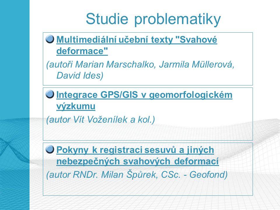Studie problematiky Multimediální učební texty