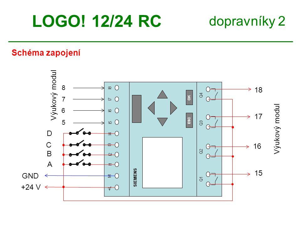 dopravníky 2 Schéma zapojení LOGO.