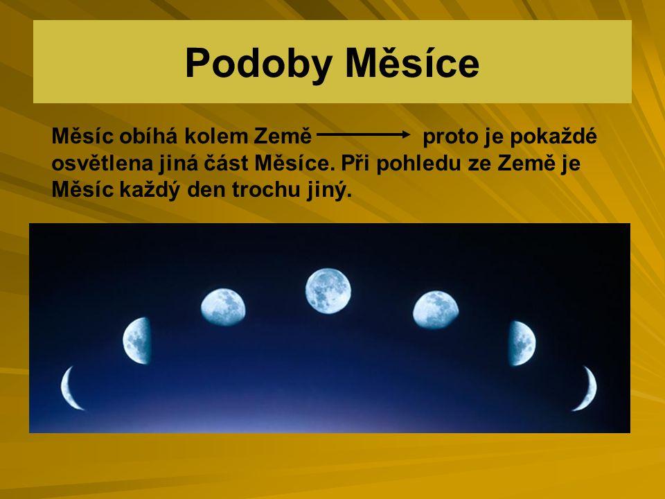 Fáze Měsíce D Měsíc dorůstá, zvětšuje se První čtvrťÚplněk